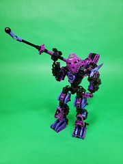 Purple Haze (TuragaNuva) Tags: bionicle purple gravity black hammer knife lego moc