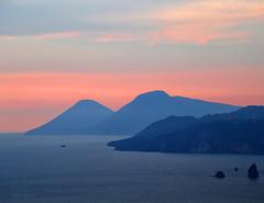 Old vulcanic islands (Robyn Hooz) Tags: eolie tramonto lipari salina mare sicilia sud sunset mediterraneo vulcani islands