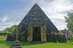 John (Mad Jack) Fuller's Mausoleum (Geoff Henson) Tags: mausoleum grave tomb pyramid gravestone grass church cemetery sky clouds