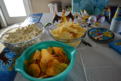 Party Snacks (Vegan Butterfly) Tags: birthday party kids children people vegan food snacks yummy tasty delicious chips bbq barbecue cheese white cheddar cheesy popcorn nondairy pokemon theme