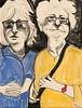 London Ladies (Gila Mosaics n'stuff) Tags: portrait art artist portraitparty jkpp charcoal hand glasses duo