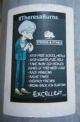 Manchester street art (rossendale2016) Tags: stable strong cartoon poster minister prime british may theresa art street manchester