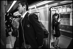 Oshiage Station, Metro, Sumida-ku, Tōkyō-to (GioMagPhotographer) Tags: tōkyōto metrostation sumidaku peoplecrowd eastofthesun leicamonochrom japanproject japan oshiage tokyo tkyto