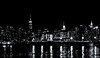Midtown Manhattan (soboy5) Tags: manhattan mono monochrome bw blackandwhite nyc newyorkcity newyork skyscraper cityscape empirestatebuilding chryslerbuilding architecture water river eastriver reflections greenpoint brooklyn pier towers pattern texture