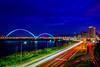 新月橋 車軌  DSC_3950 (林宜良) Tags: 夜景 車軌 橋 d850 2470mm 天空 樹 風景 自然 夕陽 新月橋 新海橋