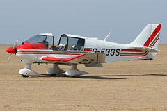 G-EGGS (QSY on-route) Tags: geggs lancashire landing 2018 fly in knott end beach airfield 09062018