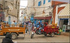 the modern mules (mhobl) Tags: transport larache medina red orange trike maroc morocco