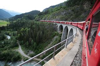 Landwasserviadukt bei Filisur im Kanton Graubünden - Grischun der Schweiz