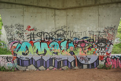 Omek (NJphotograffer) Tags: graffiti graff new jersey nj trackside rail railroad bridge omek ogc crew