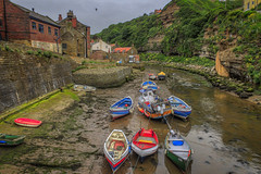 The Boats of Staithes (Kev Walker ¦ 8 Million Views..Thank You) Tags: architecture boats britishculture building canon1855mm canon700d cliffs coastline digitalart fishingport hdr harbour historic northyorkshire outdoor panorama panoramic picturesque postprocessing sea seaside seasidevillage sky tranquil unspoilt water waterfront waterside whitby