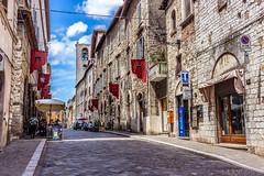 Narni street, Italy (mikael_blue) Tags: italy narni street sky building architecture italia umbria canon town travel urban area city road