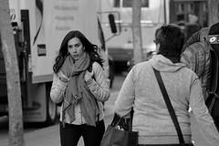 People on Market St 122 (TheseusPhoto) Tags: candid candids california sanfrancisco blancoynegro blackandwhite bnw monochrome monotone people streetphotography street woman girl scarf hair face