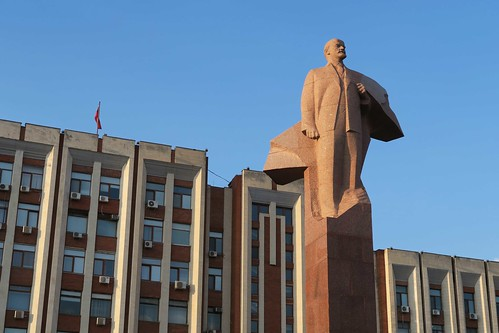 Lenin Statue in Front of Presidential Palace