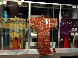 Kimonos at Kizuna national museum of Wales, Cardiff