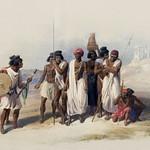 Group of Nubians (Wady Kardasey) illustration by David Roberts (1796-1864). thumbnail