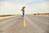hot time summer in the desert ({IP} by Amelia) Tags: selfportrait marfa texas west wranglers road open sky