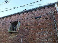 10 cents admission (army.arch) Tags: corinth mississippi ms downtown historic historicpreservation historicdistrict nrhp nationalregister nationalregisterofhistoricplaces elite theater movietheater cinema ghost wall painted sign faded