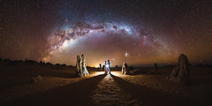 Embrace and Embark (ASTRORDINARY) Tags: astrophotography astronomy astro astrordinary flash perth panorama paeanng pano paean pinnacles westernaustralia australia wedding newlywed night nightscape nightsky nikon gigapan optolong longexposure lowlight d750 people sky stars starscape adventure