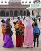 fatehpur sikri bright colors (kexi) Tags: india asia uttarpradesh fatehpursikri vertical colors people group women children canon february 2017