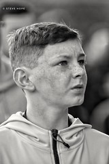 Scunthorpe United supporter at Rotherham United (SteveH1972) Tags: boy blackandwhite blackandwhiteportrait blackandwhiteface lad scunthorpeunited scunny scunthorpeunitedsupporter supporter sufc iron newyorkstadium 2018 outside outdoor outdoors southyorkshire yorkshire match matchday male canon700d 700d canon70200lf28usm canon70200 70200 nonis