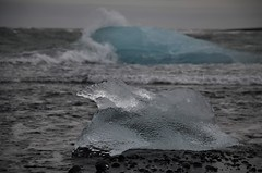 Diamond Beach (Ian@NZFlickr) Tags: ice beach southern iceland lagoon river atlantic ocean iceberg