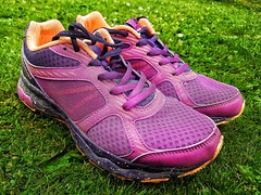'She's a little runaway!' 2/30 (explored) 2/6/18 (LeanneHall3 :-)) Tags: challenge lyrics run running runaway trainers purple pink green grass hull kingstonuponhull garden samsung explored inexplore