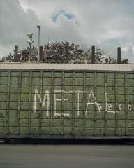 Metal (ADMurr) Tags: daa129 la eastside junkyard dumpster mamiya 7 kodak ektar 80mm lens