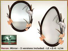 Bliensen - Heron - Mirror (Plurabelle Laszlo of Bliensen + MaiTai) Tags: vintage retro homedecor mirror 1950s fifties belleepoque artnouveau bliensen secondlife sl