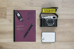 Fujifilm X100F. (Andy @ Pang Ket Vui ( shootx2 )) Tags: x100f fujifilm leather pouch mazda remote car zaku notebook fr2 wd westerndigital harddisk strap pilot zeon char