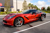 Corvette_1048 (J A West) Tags: corvette z red black flames car carshow orangecounty florida nikond7000 nikkor18140
