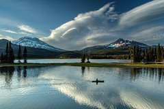 The Return (chasingthelight10) Tags: events photography landscapes lakes mountains nature sunset sunsets places centraloregon sparkslake oregon southsister brokentop otherkeywords clouds