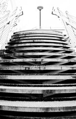 Linkbridge (mrdamcgowan) Tags: londonist london blackandwhitearchitecture linkbridgewoolwich southlondon woolwichdockyard capitalring