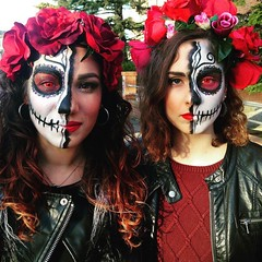 By @beolina92 (ineedhalloweenideas) Tags: halloween makeup make up ideas for 2017 happy night before christmas october 31 autumn fall spooky body paint art creepy scary horror pumpkin boo artist goth gothic amazing awesome