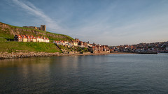Wonderful Whitby... (L A H Photography) Tags: landscape whitby coast seaside sea sky town light golden evening lumixg9 outdoor pretty harbour uk contrast water building