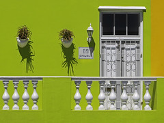 89 Wale St, Cape Town (RobertLx) Tags: africa green wall house building city malay southafrica capetown bokaap window door architecture