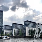 The Berlin Allianz-Treptowers with Molecule Men thumbnail