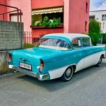 Classic vintage Opel Rekord in Kufstein, Tyrol, Austria thumbnail
