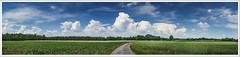 20180529-Emkum-Panorama-02-Rahmen-kl-kl (fredericfromage) Tags: panorama landschaft himmel wolken felder münsterland