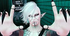 Social Harlot (Fraz_Gloom) Tags: sl second life secondlife selfie gothic cx cerberusxing tableau vivant aitui swallow gabriel gb elven backdropcity