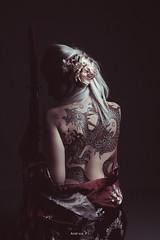 Memories from Japan (portraitsbyandreapi) Tags: portrait japan katana kimono girl studiophotography back tattoo