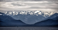 Olympic Mountains (Paul Rioux) Tags: nature outdoors scenic washington state salish sea ocean water olympic mountain range mountains clouds weather boat vessel prioux snow peaks