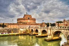 Another Sant'Angelo photo (M Malinov) Tags: castle santangelo roma rome roman italy italia lazio city capital cityscape cityview apennine europe eu earth country рим риме италия европа град столица замък тибър tiber river река hadrian monument mausoleum building architecture old oldest emperor museum bridge ngc flickrtravelaward