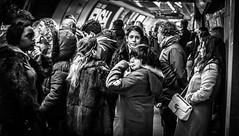 Contact (Henka69) Tags: streetphotography monochrome candid publictransportation tube london metro subway