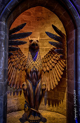 Harry Potter Statue (Holfo) Tags: harrypotter hdr creature nikon d750 wings alcove beak rowling mythical