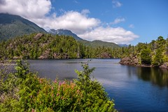 Kennedy Lake, Mount Maitland (MIKOFOX ⌘ Thanks 4 Your Faves!) Tags: canada showyourexif lake mountain xt2 water islands vancouverisland learnfromexif july rocks landscape provia fujifilmxt2 mikofox britishcolumbia summer xf18135mmf3556rlmoiswr