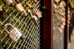 Locks of Promised Love (benjamin.t.kemp) Tags: locks love colorsinourworld macroaddicts macro bokeh detail texture