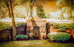 The Crypt (Forrest Pearson) Tags: lakewood cemetery ir infrared topaz