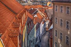 auf dem Dach - on the roof (ralfkai41) Tags: saxony architektur building strasse meissen street city roof stadt dach rofftop gebäude architecture sachsen