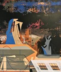 Jim Harris: The Sky Watchers. (Jim Harris: Artist.) Tags: art arte paint maalaus malerei málverk målning malerkunst makabe abstract abstrakt technology technik geometric geometrický