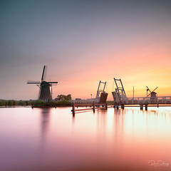 Sunset at Kinderdijk (Siebring Photo Art) Tags: kinderdijk windmill longexposure reflection sunset unesco water worldheritage zuidholland nederland nl